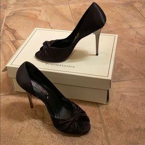 BCBG Maxazria Black Satin Heels size 8M US
